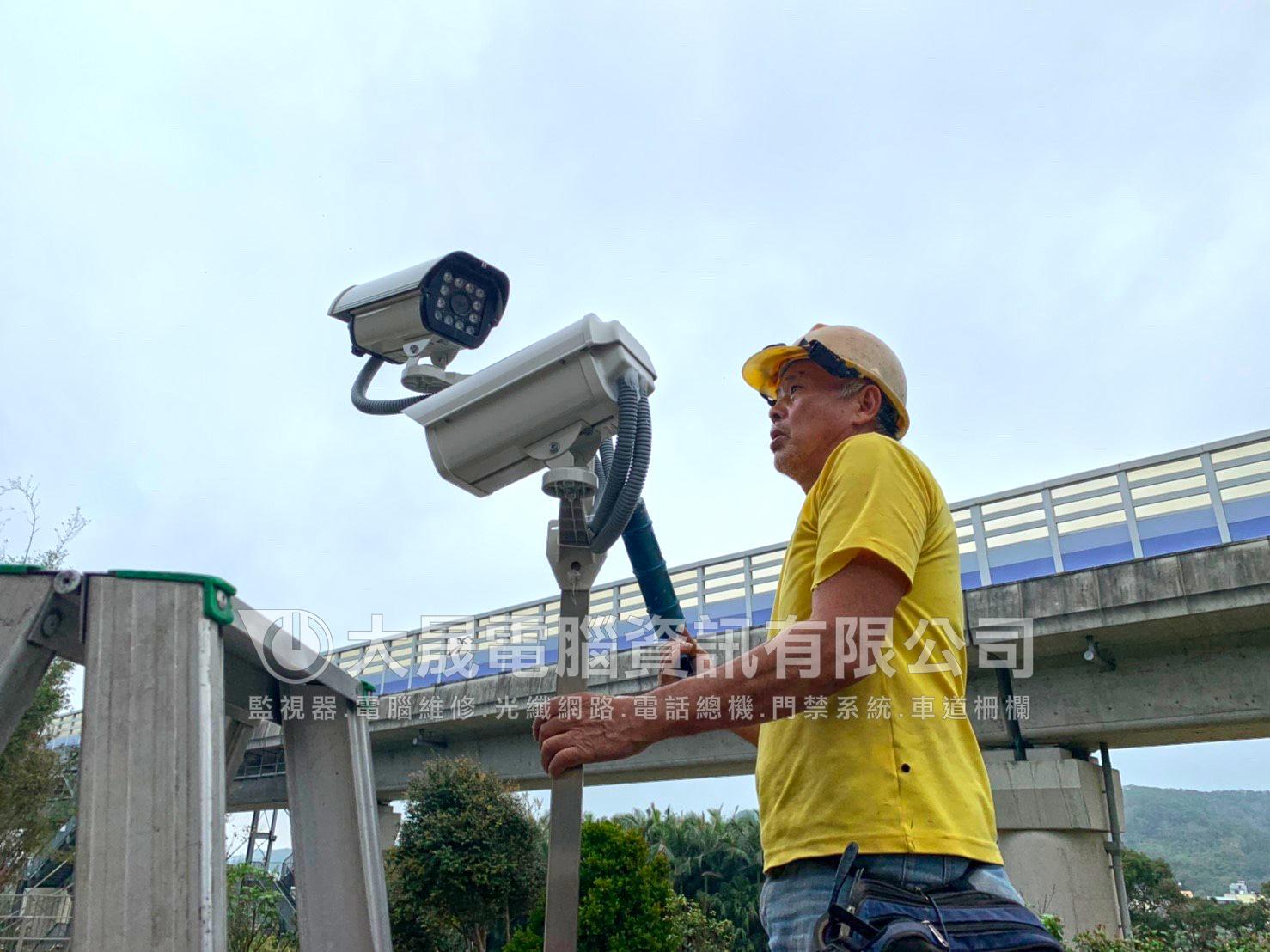 住宅監視器,戶外監視器安裝,大型戶外紅外線攝影機,山腳監視器工程