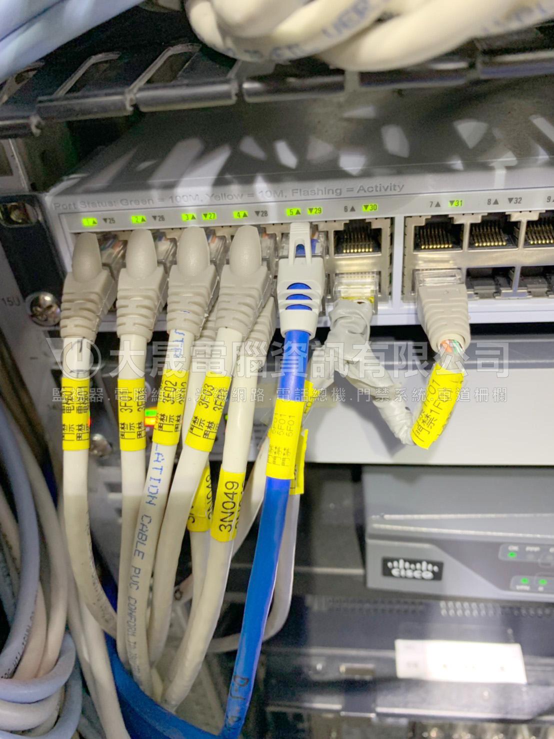 桃園蘆竹電話網路工程、湧德電子、機櫃、光纖網路、機房
